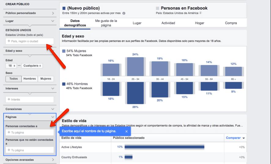 Análisis seguidores con Facebook Insights