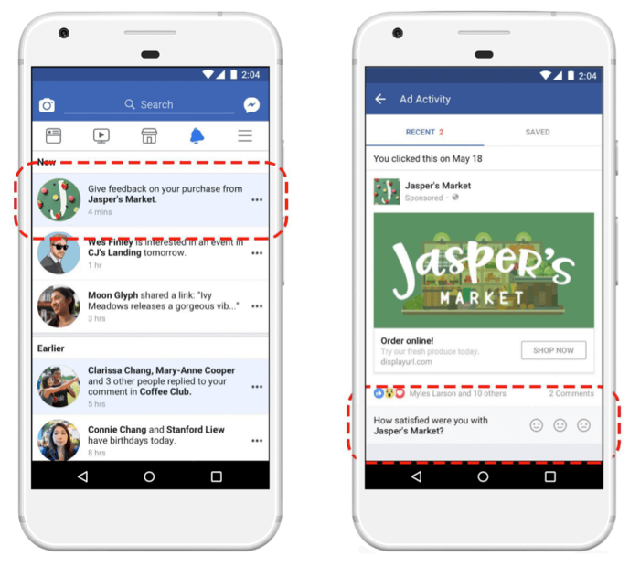 los usuarios pueden valorar los anuncios de facebook