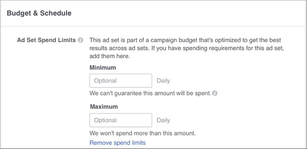 configurar la optimización del presupuesto