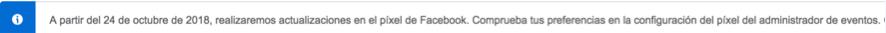 actualización del pixel de facebook