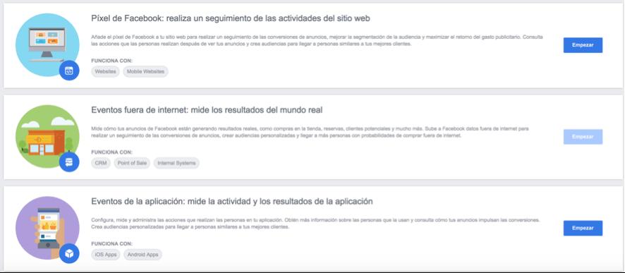 formas de implementar el pixel de facebook