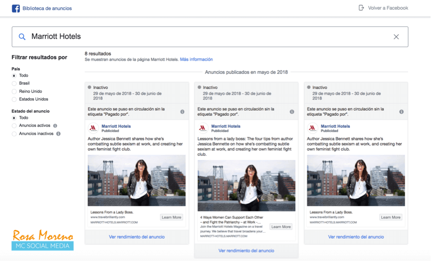 como espiar anuncios competencia en facebook ads anuncios politicos relevancia nacional