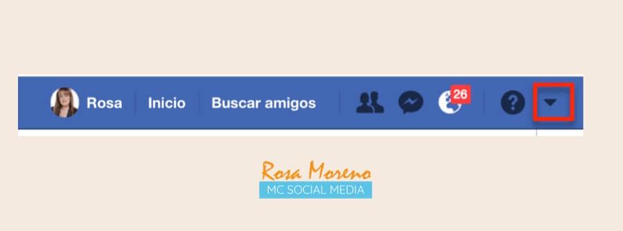 como espiar anuncios competencia en facebook ads barra superior facebook triangulito menu