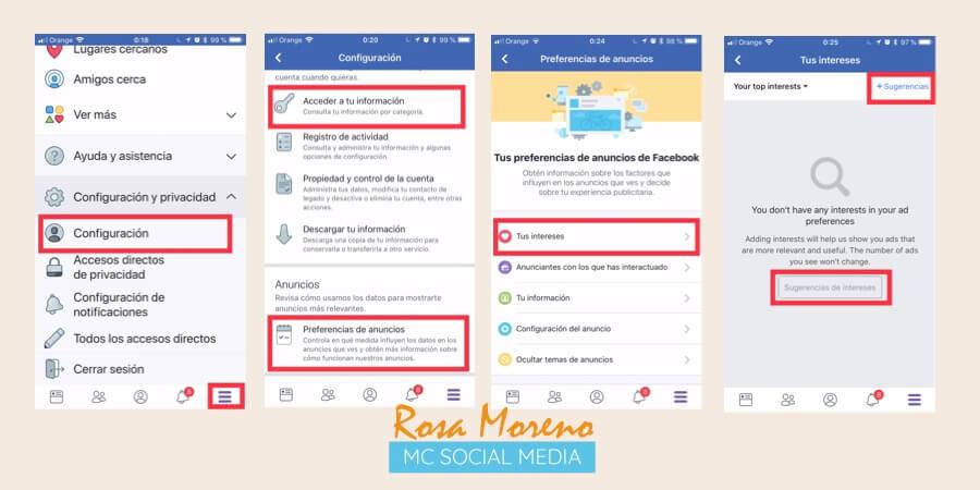 como espiar anuncios competencia en facebook ads configurar preferencias anuncios app facebook mobile