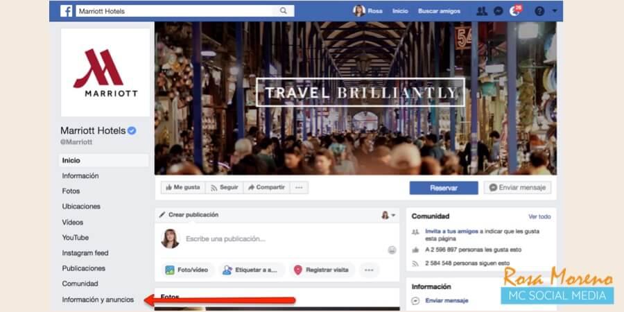 como espiar anuncios competencia en facebook ads perfil empresa seccion informacion y anuncios ver anuncios