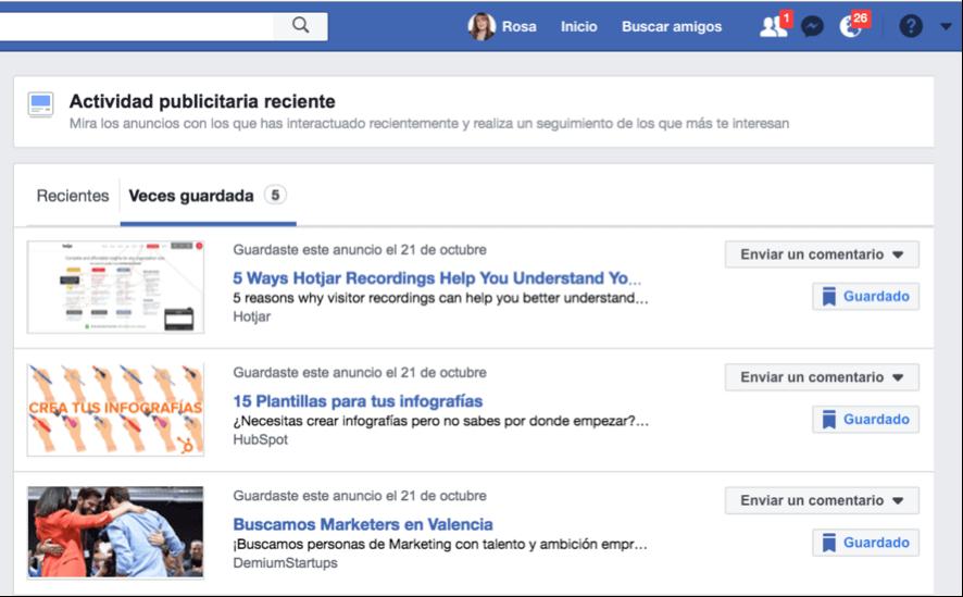como espiar anuncios competencia en facebook ads perfil personal anuncios vistos en facebook ads activity