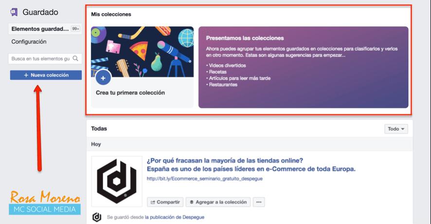 como espiar anuncios competencia en facebook ads perfil personal crear colecciones anuncios guardados
