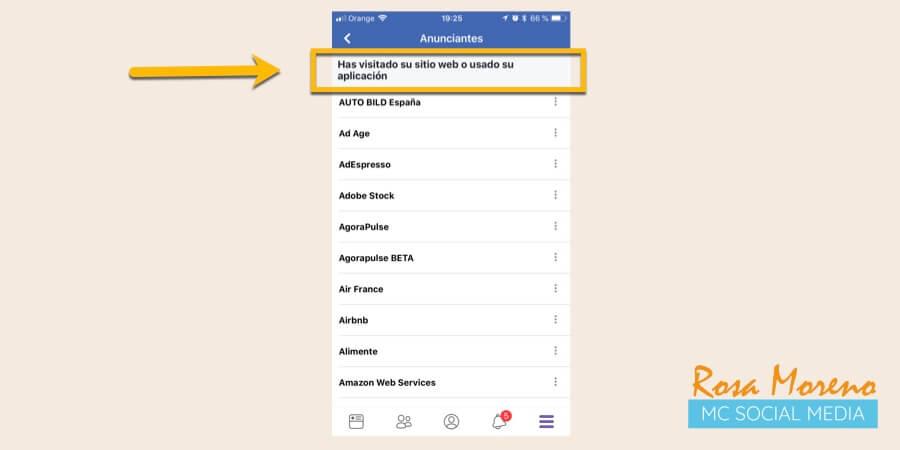 como espiar anuncios competencia en facebook ads perfil personal ver anunciantes remarketing visita web