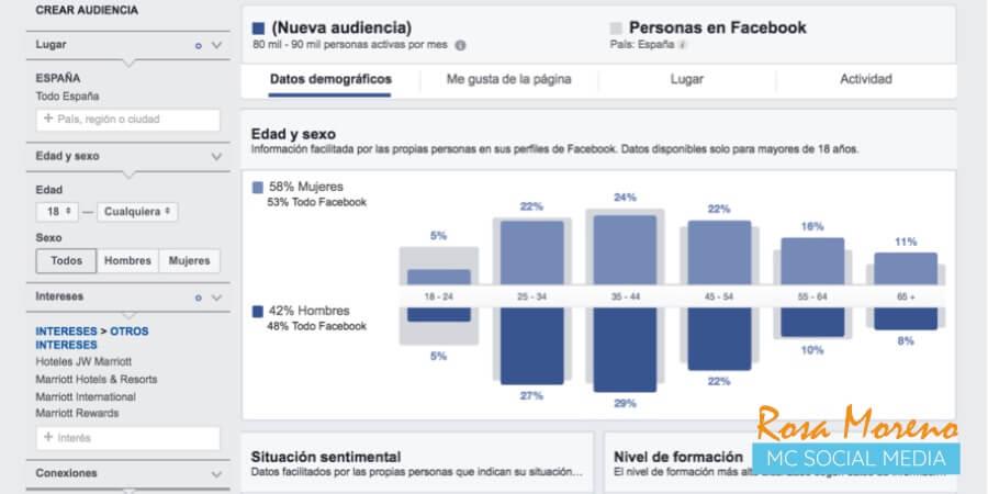 como espiar anuncios competencia en facebook ads seccion estadisticas audiencia