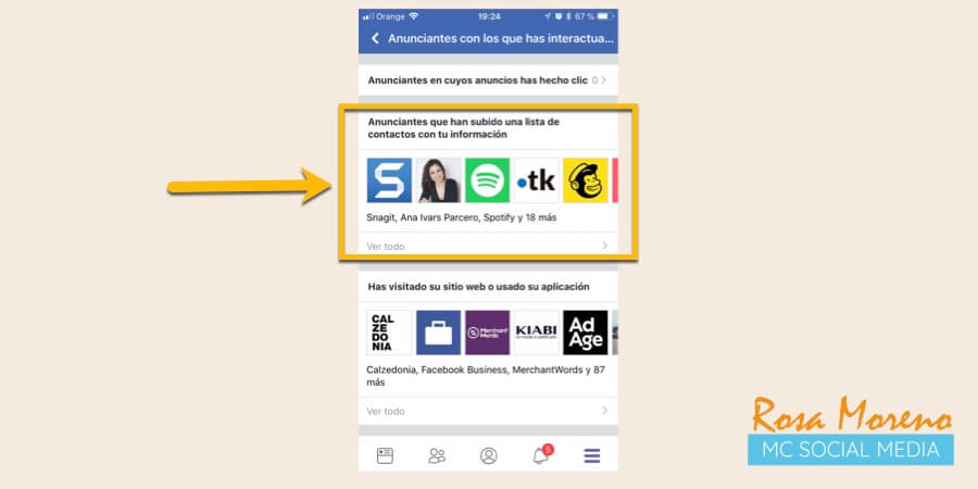 como espiar anuncios competencia en facebook ads ver anunciantes remarketing bases datos movil