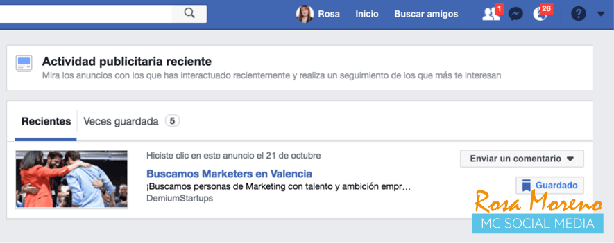 como espiar anuncios competencia en facebook ads ver mi interaccion anuncios con facebook ads activity
