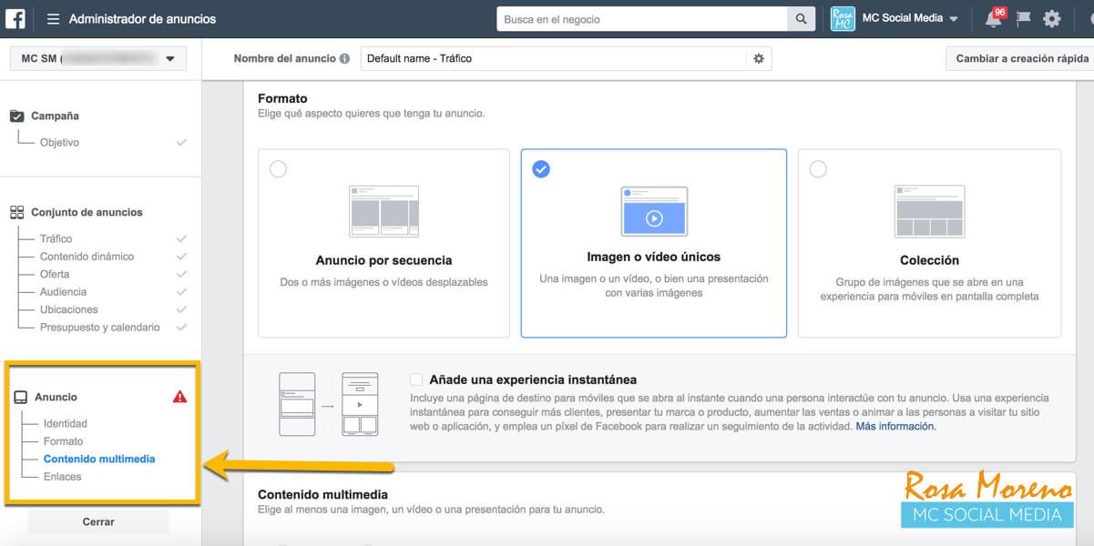 aprende facebook ads desde cero paso a paso configuracion formato anuncio ads manager