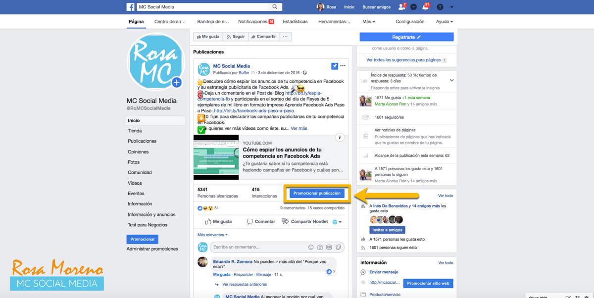 aprende facebook ads desde cero paso a paso promocion publicacion pagina facebook