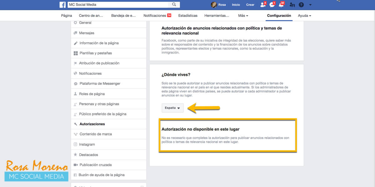 campañas publicitarias facebook para partidos politicos lideres politicos mayoria paises no necesitan autorizacion ejemplo españa