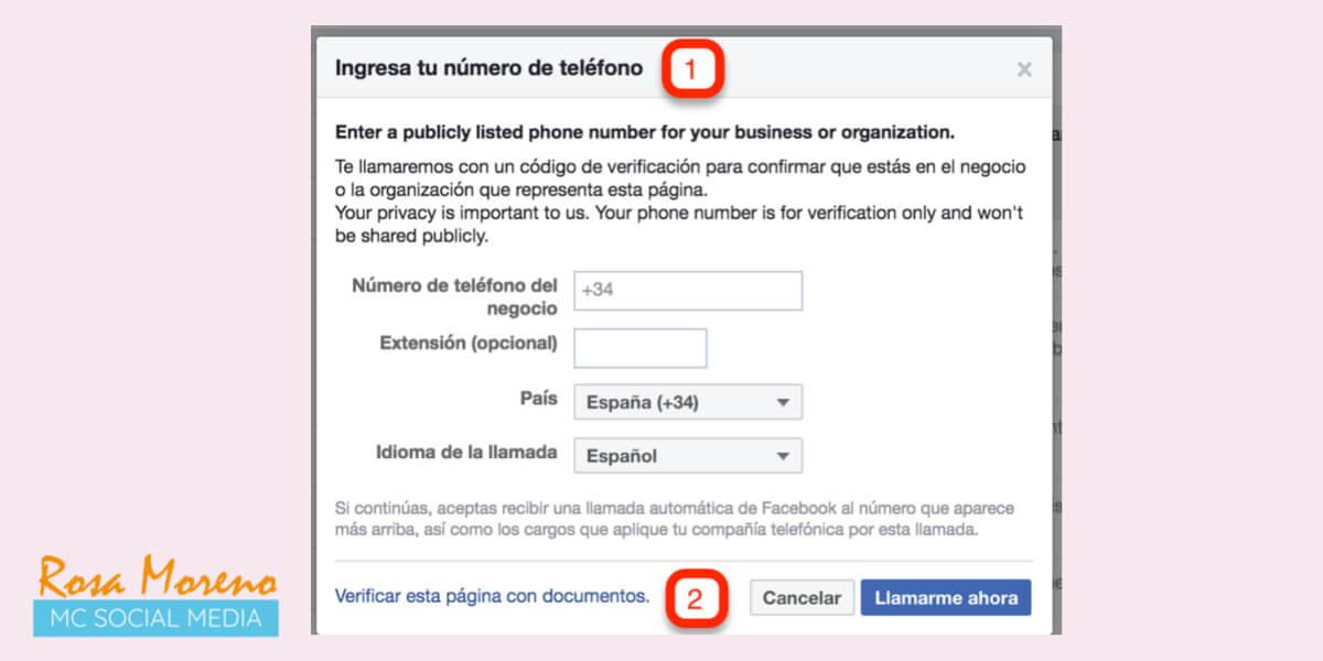 como verificar pagina perfil facebook metodos verificacion pagina empresa facebook insignia gris