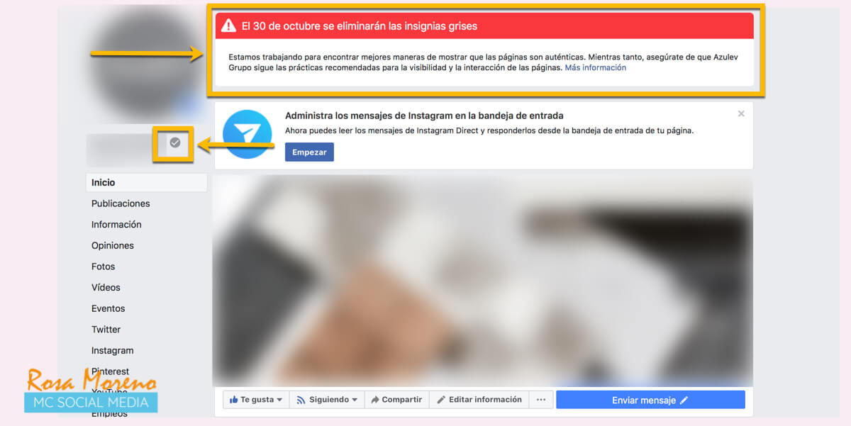 Cómo Verificar Una Página Facebook Insignia Gris Azul En 2019