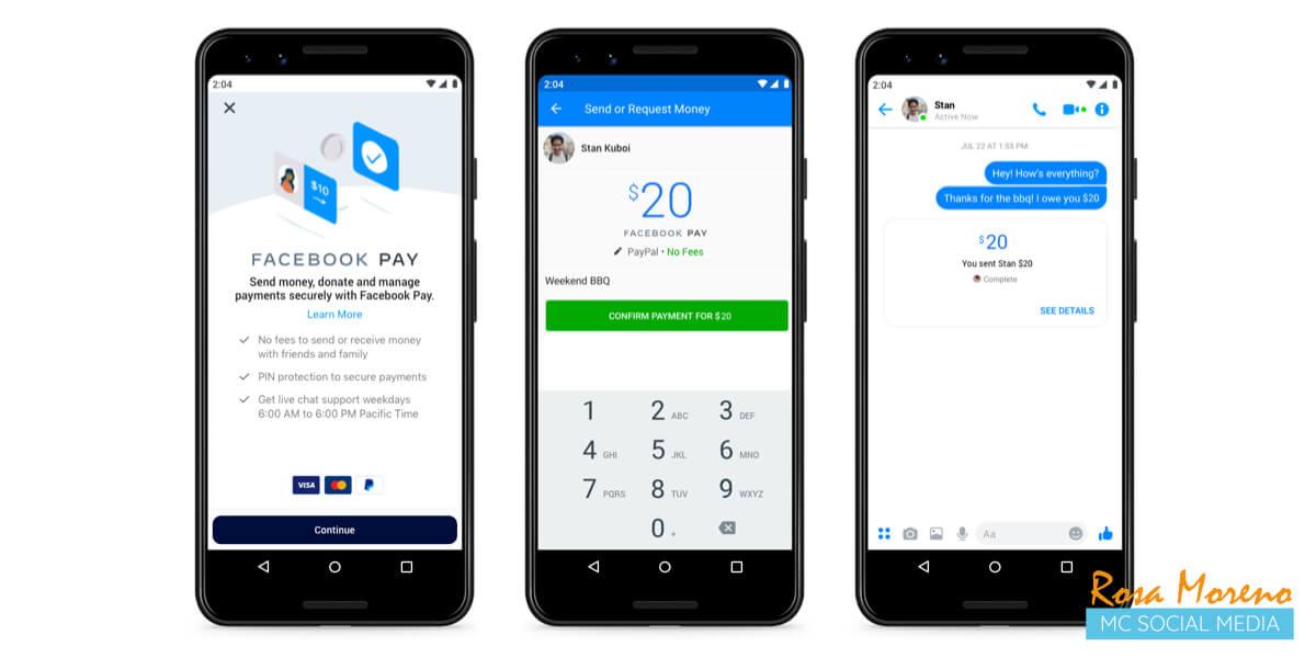 facebook lanza facebook pay nuevo metodo pago sus aps facebook pay para pagos mediante messenger