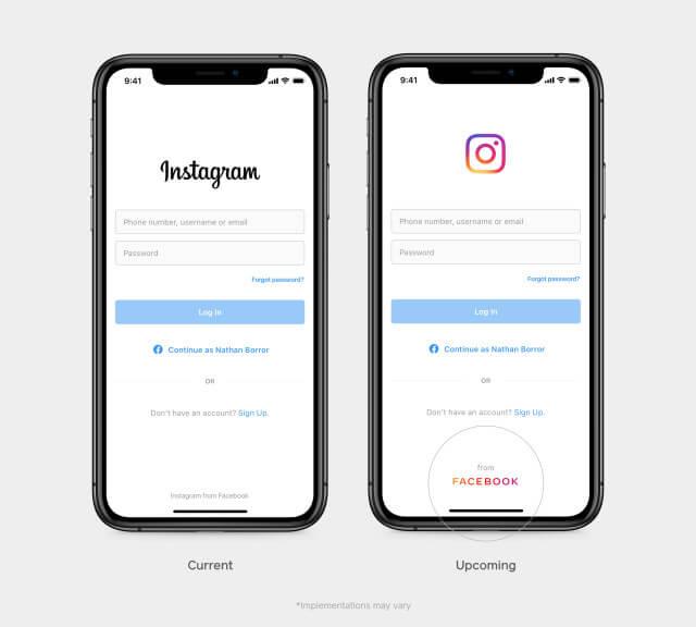 facebook nuevo logotivo imagen marca corporativa instagram de facebook